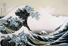 волны рисунки большая волна в канагава кацусика хокусай