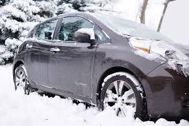 electric car vs winter