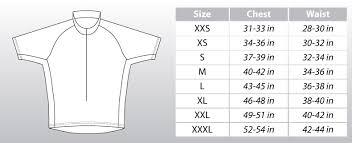 Cycling Jersey Size Chart Custom Triathlon Gear By Atac Sportswear Size Chart