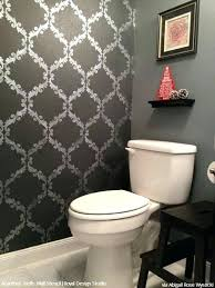 Budget Stencils Whether To Paint Or Wallpaper Bathroom But An Idea I Forgot