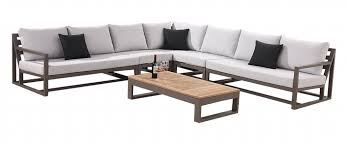modern outdoor sectional. Tribeca 7 Seater L Shaped Modular Sectional Modern Outdoor