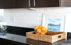 subway tile backsplash loving the look of our new white subway tile under our kitchen subway subway tile backsplash