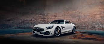 the front view of the mercedes amg gt r c 190 in designo