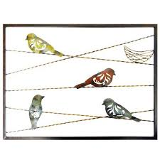 new view gifts metal wall decor birds