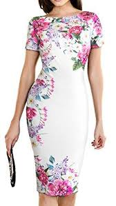 Homeyee Womens Print Short Sleeve Wear To Work Floral Bodycon Dress B455 Party Dress White Black Women Dress From Dufflecoat 49 54 Dhgate Com