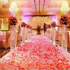 100X Fake Silk Rose Flower Red Wedding Party Favour Ceremony Marriage Room  Decoration Home Petals Artifical