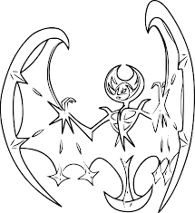 Coloriage Lunala Pokemon Imprimer
