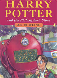 book cover of harry potter and the philosopher s stone