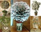Фото как сделать денежное дерево из купюр