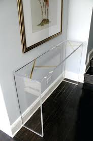 furniture legs acrylic lucite. Acrylic Lucite Furniture Brass Inlay Console By On Legs