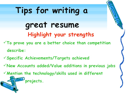 Effective Resume Writing Awesome Tips For Writing A Resume