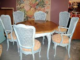 1950 s french provincial dining set buffet 6 chairs