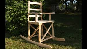 wooden rocking chair. Building A Wooden Rocking Chair From Logs