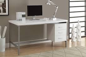com monarch hollow core silver metal office desk 60 inch white kitchen dining