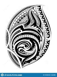 полинезийская этническая татуировка стиля иллюстрация вектора
