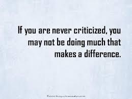 Quote To Handle Criticism Simple Criticism Quotes