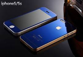 dr vaku apple iphone 5 5s se reflective 0 3mm 9h hardness electroplated mirror tempered glass screen protector