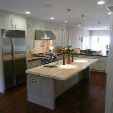 kitchens with wood cabinets and white appliances43 and