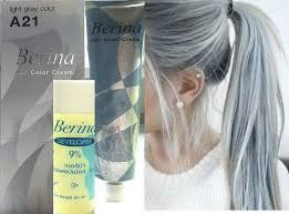 Light Grey Dye Hair Colour Permanent Hair Cream Dye Light Ash Grey By Berina