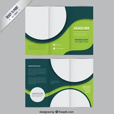 brochure template green brochure template with circles vector free download