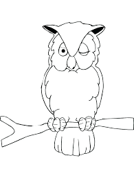 Owl Color Page Coloring Pictures Of Barn Owls Baby Sheet Pages