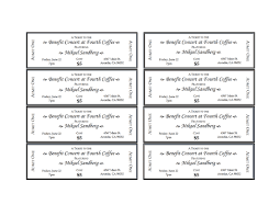 word for black and white event tickets office templates