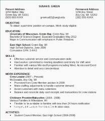 Resume Sample Objective Roddyschrock Examples Of Two Page Resumes