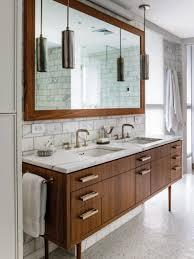 Dark Wood Bathroom Accessories Mid Century Modern Bathroom Accessories Floor To Ceiling Window