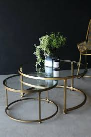 nest table set set of 2 circular circus nesting tables for elegant house round glass nesting nest table