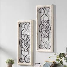 gaia vintage wood and metal panel wall
