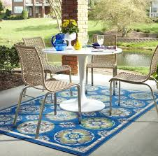 astonishing blue geometric outdoor rug for patio with furniture