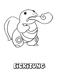 Lickitung Pokemon Coloring Page The Hellokids