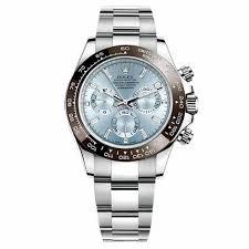 rolex cosmograph daytona ice blue diamond dial platinum mens watch an error occurred