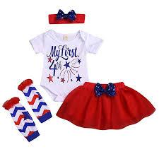 Amazon Com Cm C M Wodro 1st 4th Of July Baby Toddler Girl