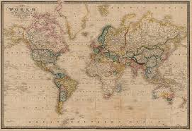 wall wallpaper murals wall hanging world on mercator s projection antique world map