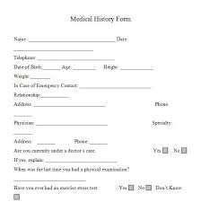 medical health history form printable health history questionnaire download them or print