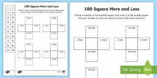 10 More 10 Less Anchor Chart Identify More Or Less Number And Place Value Ks2 Number