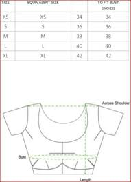 Blouse Measurement Chart Blouse Stitching Measurement Chart Toffee Art