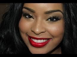 clic makeup tutorial golden eyes and red lips makeup tutorial black