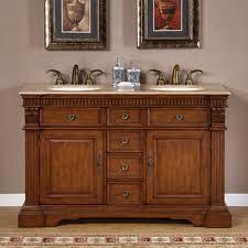 55 Inch Furniture Style Double Sink Bathroom Vanity UVSR018155
