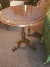 antique round walnut occasional table