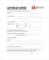 Sample Offer Letter To Purchase Property As Letter Property Offer