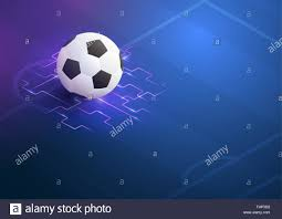 4 Pics 1 Word Lights Soccer Ball With Blue Flame Abstract Illustration Football Soccer World Championship