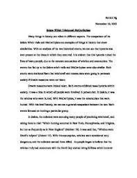 m witch trials research paper  the m witch trials essays and papers 123helpme com