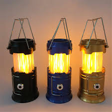 2 In 1 Led Camping Light Aa Battery Powered Flame Decorative Lamp Portable Led Camping Lantern Flashlights For Emergence