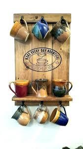 mug holder wall coffee display shelf rack mounted hanger diy storage ideas 4 co