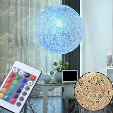 Rgb Led Kugellampe Papiergeflecht Dimmer Fernbedienung Schlafzimmer