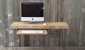 imac furniture. Mini Reclaimed Wood Desk For Imac With Metal Legs Furniture D
