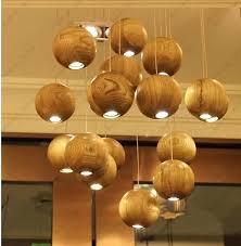 wood pendant chandelier ship solid wood globe pendant lamps led simple pendants lights wood ball ceiling wood pendant chandelier