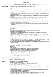 Sap Supply Chain Resume Samples Velvet Jobs
